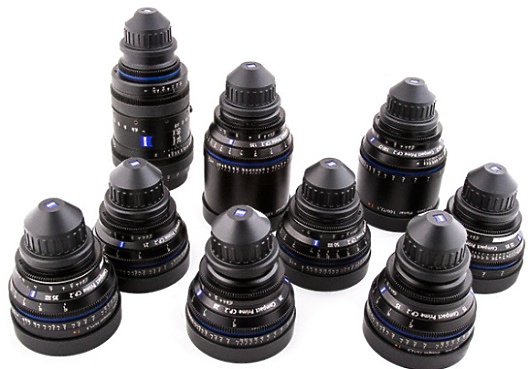 Set of Zeiss Compact Prime Lenses