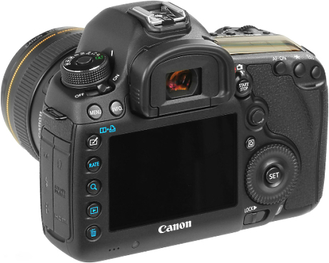 Canon 5D Mark 3 SLR  back