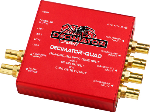 HD Decimator QUAD Splitter (4-In/1-Out)