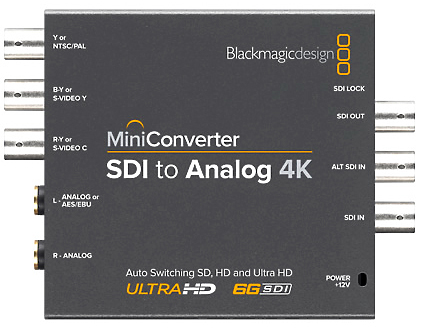 Blackmagic SDI to Analog Converter