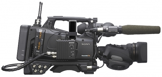 Sony PMW 500 XDCAM Camcorder side