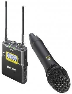 Sony UWP Handheld Transmitter And Portable Eng Receiver