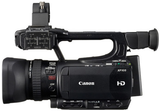Canon XF105 side