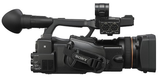 Sony PXW-X200 Camcorder side