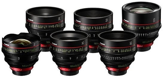 Set of Canon Cine CN-E Lenses