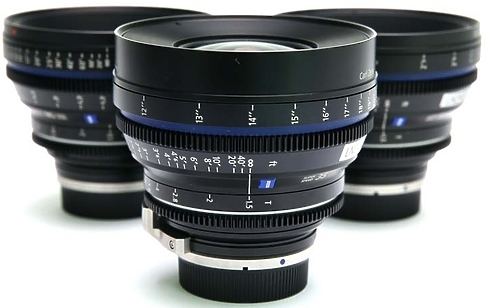 Set of Zeiss CP.2 Super Speed T1.5 Lenses
