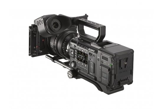 Sony AXS R7 4K Recorder mounted on camera