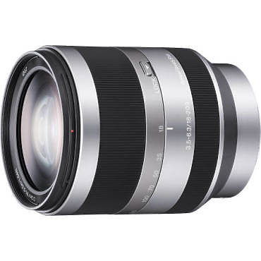 Sony 18-200mm Lens left