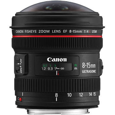 Canon 8-15mm F/4L Fisheye Lens