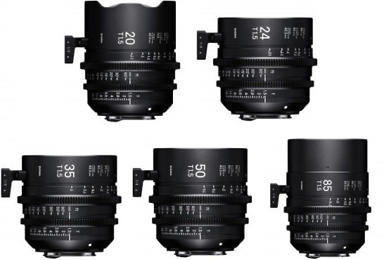 Set of 5 sigma lenses