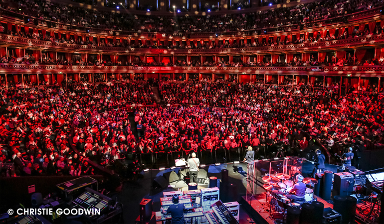 The Who performing on stage at Royal Albert Hall