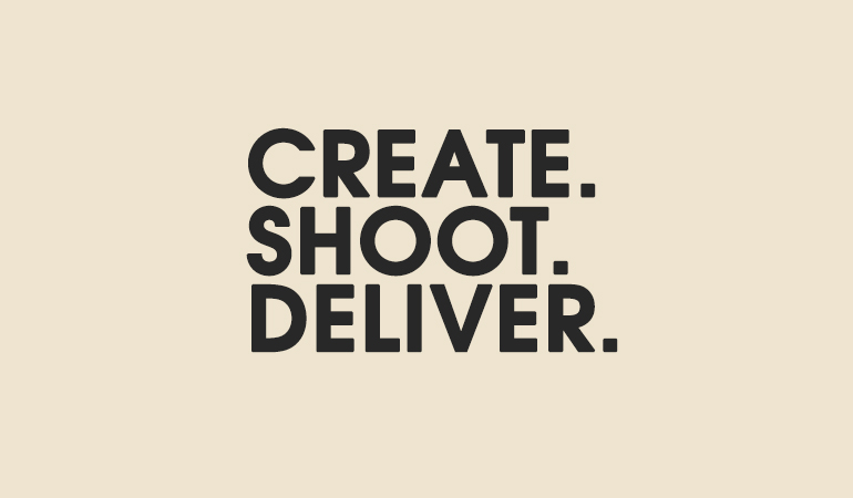 Create Shoot Deliver graphic