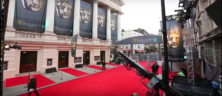 Red carpet at BAFTA