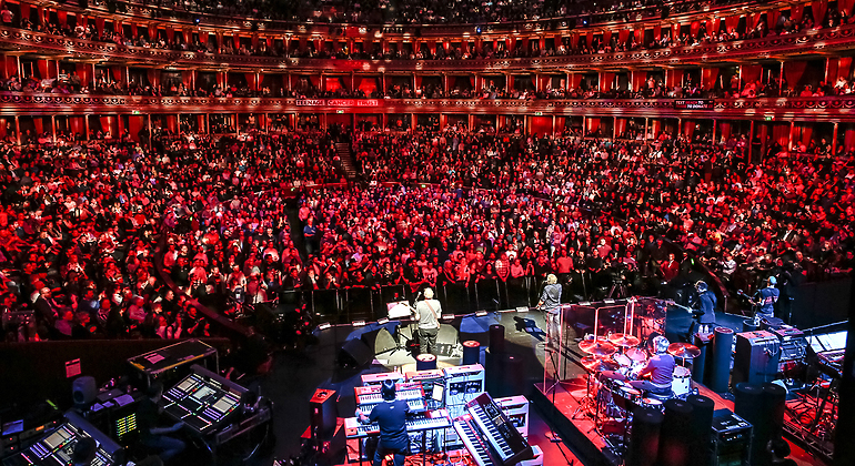 View from on stage of the entire audience