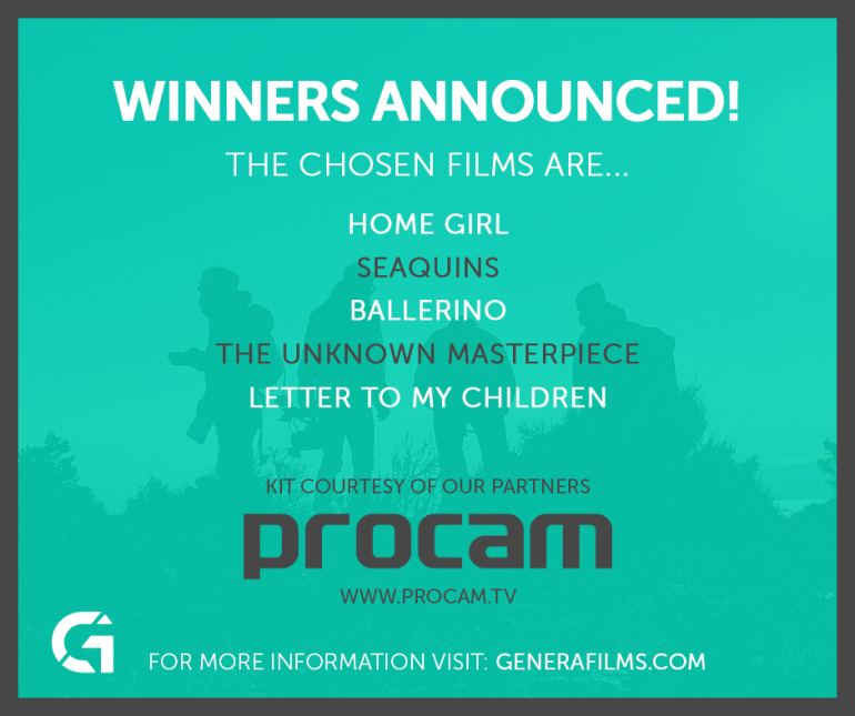 Winner announcement, home girl, seaquins, ballerino, the unknown masterpiece, letter to my children