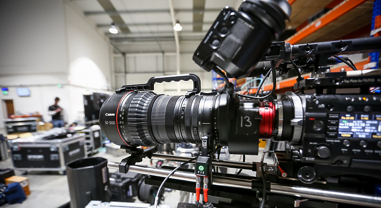 Left up-close angle of a Sony F55 camera