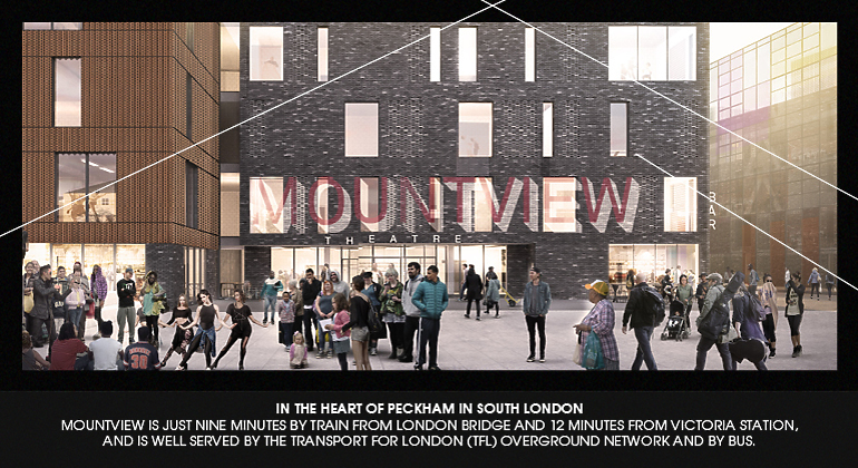 The front entrance at Mountview