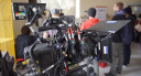 Canon C300 with a lens and mattebox