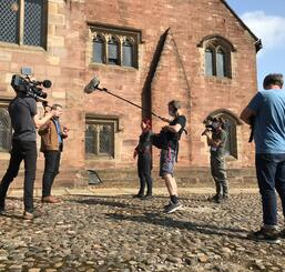 Filming for Channel 4 series Britain's Most Historic Towns