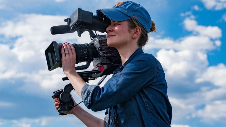 Female Camera Operator with the new Sony FX9